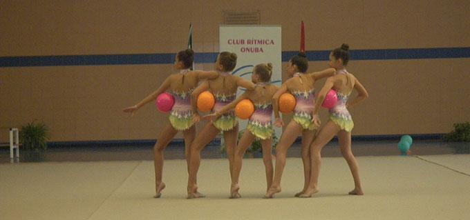 El Club Rítmica Onuba sigue apostando por la promoción y práctica de la gimnasia rítmica.