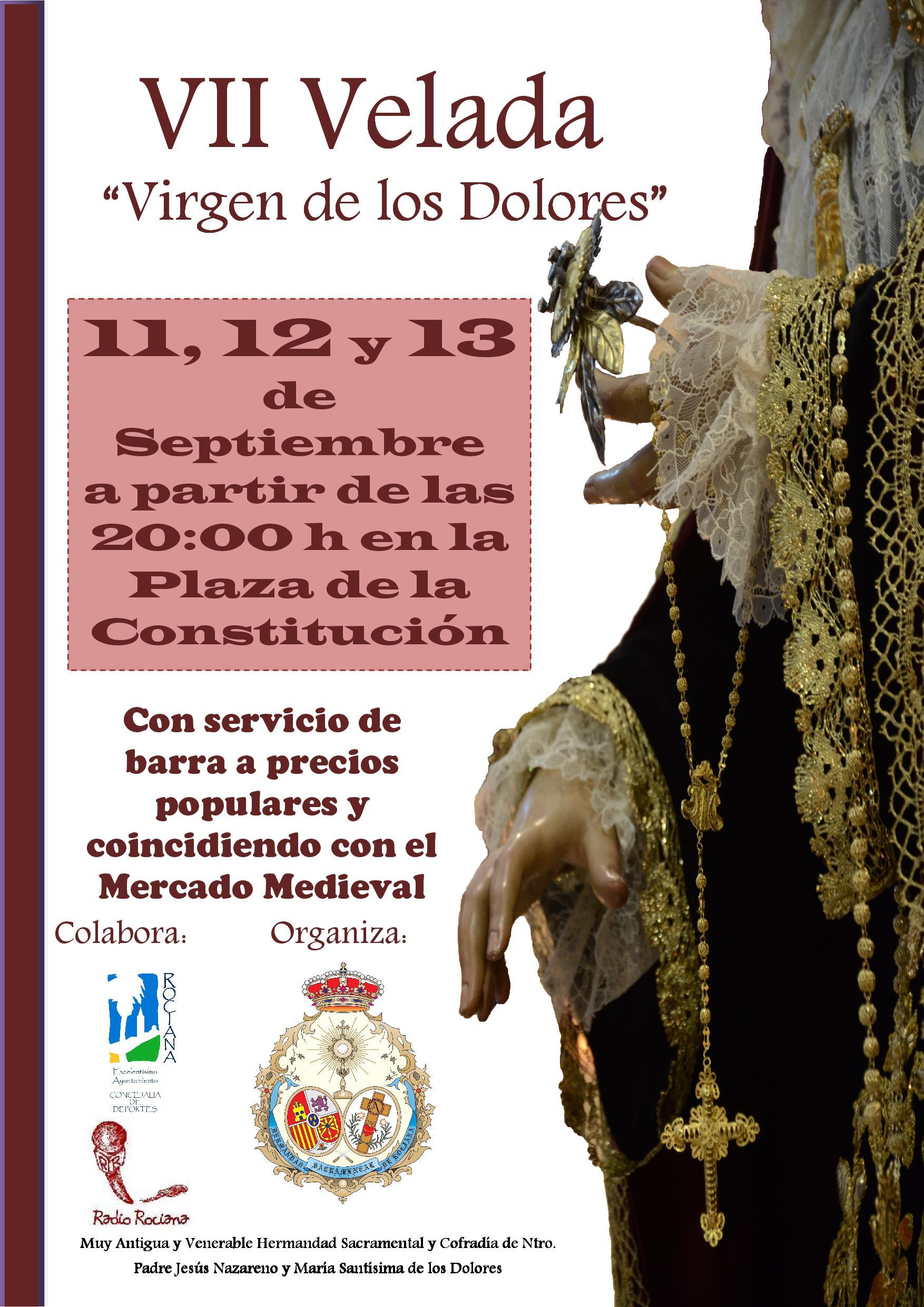 Cartel de la VII Velada 'Virgen de los Dolores'.