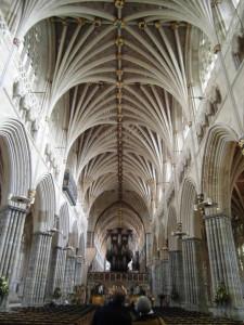 Catedral de Exeter, donde hizo prácticas.