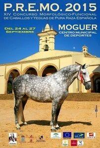 Cartel del XIV Concurso de Caballos de Raza Española que se celebra del 24 al 27 de septiembre en Moguer.