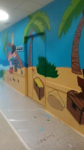 Imagen del mural realizado en el hospital.