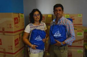 Ayamonte recibe material escolar para los niños más desfavorecidos de la localidad.