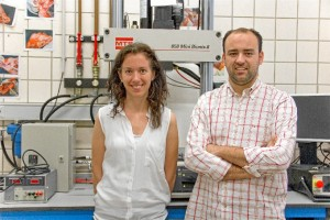Juan Mora y Esther Reina, investigadores y promotores de la idea de negocio.
