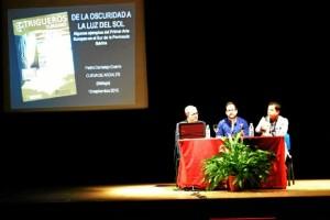 Un momento de la conferencia ofrecida en Trigueros.