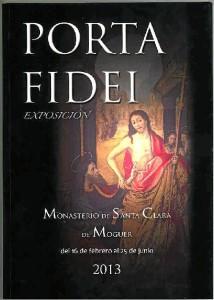 Cartel de la exposición 'Porta Fidei' del Monasterio de Santa Clara.