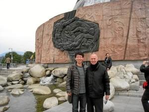 Imagen de la visita a finales de 2013 a la presa de las Tres Gargantas, donde desarrollan un proyecto con grupos de investigación chinos.