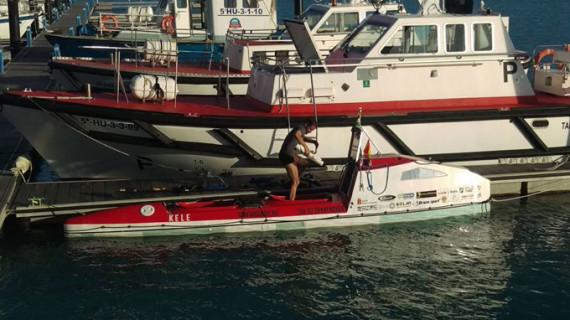Los dos amigos húngaros vuelven a intentar cruzar el Atlántico desde Mazagón en kayak doble