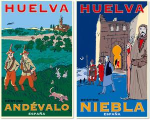 Carteles de El Andévalo y Niebla.