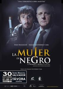 Cartel de la obra de teatro 'La mujer de negro'.