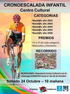 Cartel de la prueba ciclista que se celebra en Nerva.