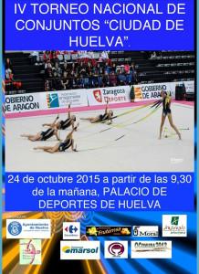 Cartel anunciador del importante evento gimnástico que vive Huelva.