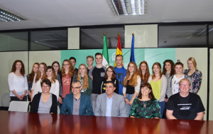 Recepción a estudiantes alemanes en Huelva. / Foto: Pablo Sayago.
