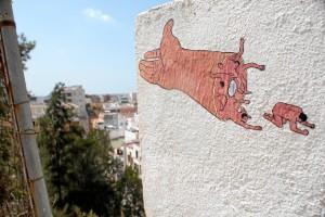 Obra 'Brazo', en vía paisajista. /Foto: Luis Martínez Conde.