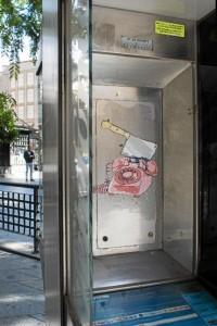 Obra 'Teléfono', en plaza Quintero Báez./ Foto:  Luis Martínez Conde.