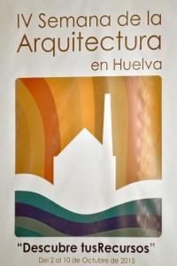 Cartel de la IV Semana de la Arquitectura. / Foto: Pablo Sayago.