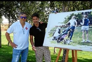 Todo surgió a raiz de la visita a su estudio del programa Ruta 21 de Canal Plus,  especializado en golf.