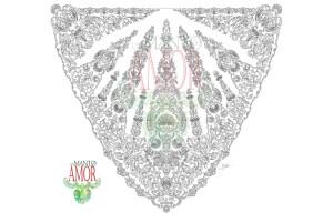 Diseño de Juan Robles para el nuevo manto procesional de la Virgen del Amor