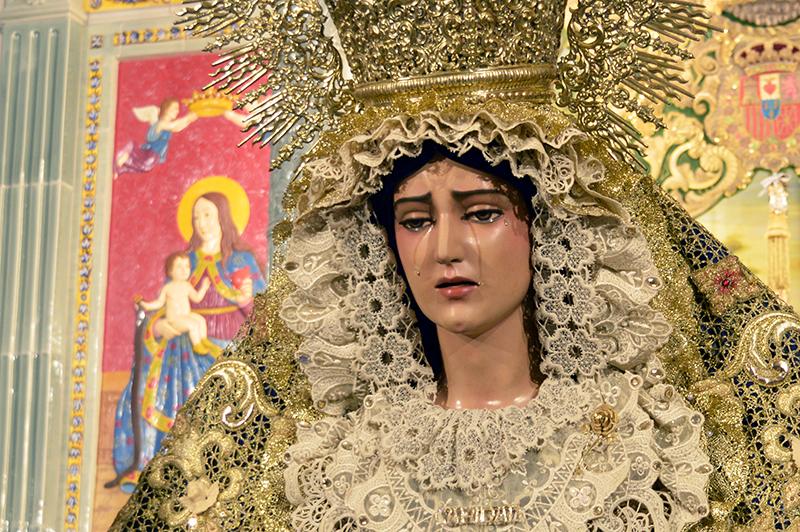 Nuestra Señora de la Caridad en el pasado besamanos en la Hermandad de Huelva