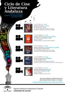 Cartel del ciclo de Cine y Literatura en la Biblioteca.