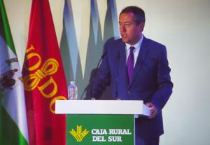 El alcalde de Sevilla, Juan Espadas, en un momento de su discurso.