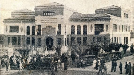La inauguración del soberbio edificio de escuelas de los Ferroviarios de Huelva en julio de 1932, una jornada memorable para la ciudad