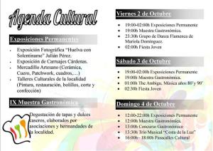 Imagen con la programación de la Semana Cultural.