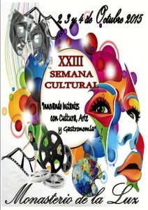 Cartel anunciador de la Semana Cultural.