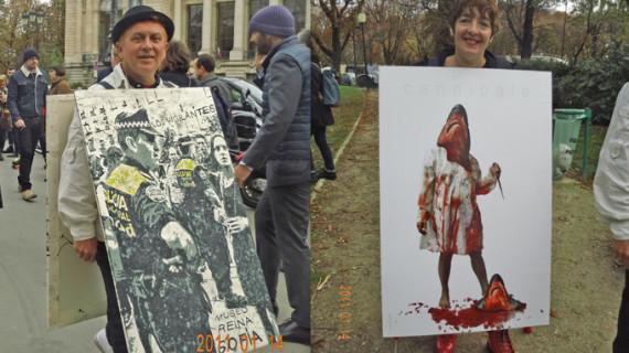 Gran éxito de dos artistas onubenses en la Feria de Arte Contemporáneo de París