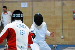 Ezama, en una de sus competiciones.