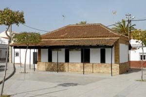 Oficina de pagos de Corrales. / Foto: Marta Santofimia. Fuente: Proyecto I+D Patrimonio Industrial de Andalucía.