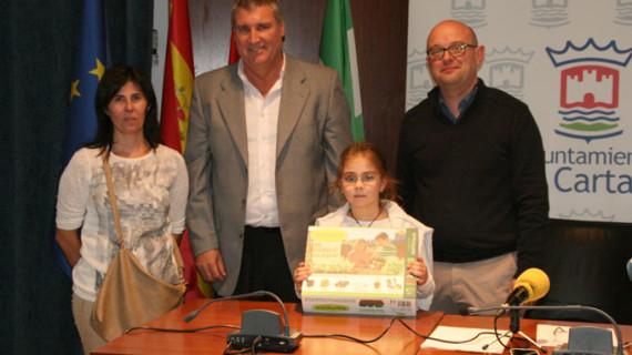 Una niña de Cartaya, finalista del Concurso internacional de dibujo infantil de Aqualia