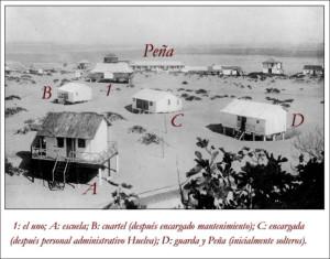 Imagen de una de las primeras casas de los ingleses en Punta Umbria. Foto: Archivo particular/RGM
