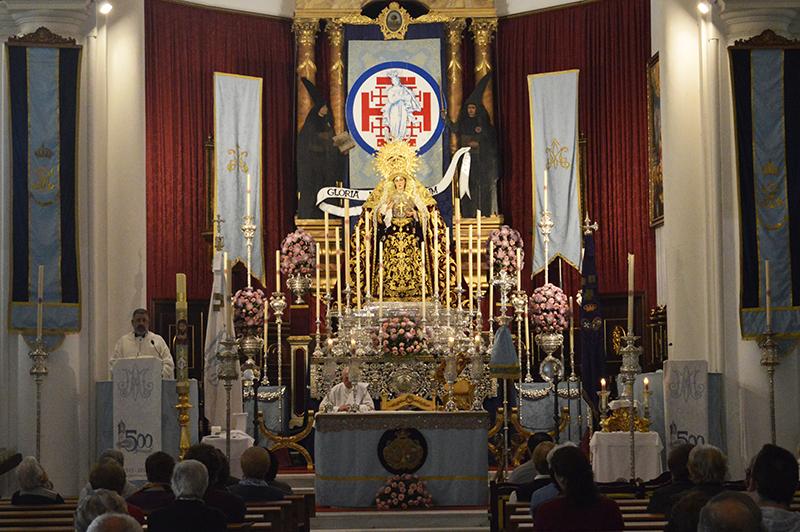 María Santísima de la Amargura en su altar de cultos