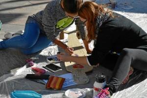 El acto tenía lugar en la Plaza de la Constitución. / Foto: Cinta García.