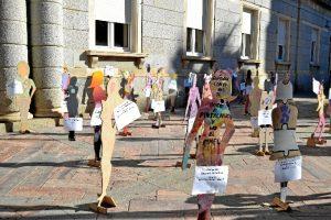 Representación de los alumnos de la Escuela León Ortega. / Foto: Pablo Sayago.