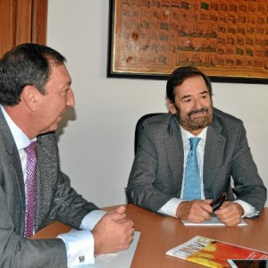 Jesús M. Guirau, presidente de Insoc Ferial, y Tomás de Soto Rioja, comisario del evento.