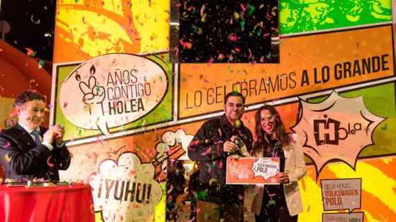 Jesús Fernández Ruiz, ganador del Volkswagen Polo de la Escalada de Premios de Holea