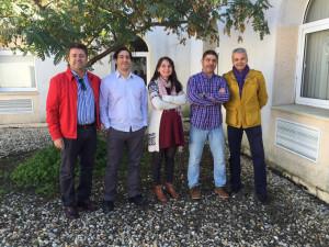 Los profesores José Manuel Andújar, Antonio Javier Barragán, Francisca Segura,  Juan Manuel Enrique y Miguel A. Martínez.