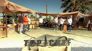 Grabación de Top Chef en el Muelle de la Rábida.