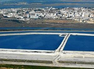 Imágenes aéreas de las balsas de fosfoyesos. / Foto: miradadelince.wordpress.com.