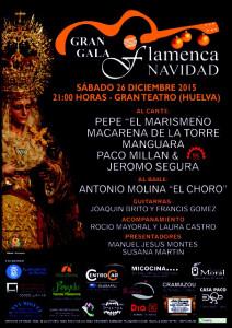 Cartel de la gala flamenca organizada por la Hermandad de la Victoria.