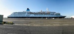 El crucero ha traído a unas 1.000 personas a Huelva.