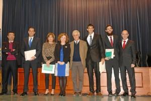 Los premiados en el día de festejos de la Facultad de Humanidades