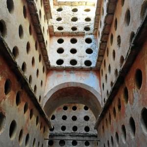 El columbario es la zona más llamativa del conjunto. / Foto: Agustín P. Figuereo.