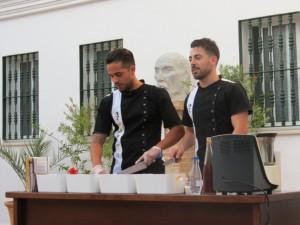 Durante la presentación de 'La Cocina de Platero'.
