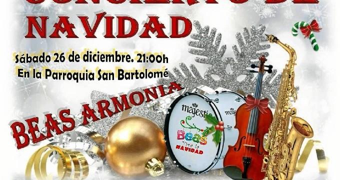 La banda de música Beas Armonía protagoniza el Concierto de Navidad