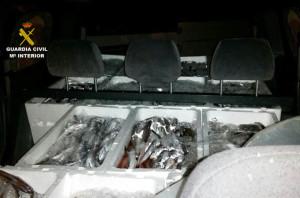 Los agentes también localizaron un cargamentos de merluza que no cumplía con el tamaño reglado.