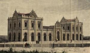 Una imagen de la estación recién inaugurada. / Foto: Archivo Histórico Provincial de Huelva.