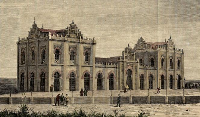La estación de ferrocarril de Huelva, una joya neomudéjar pionera en España
