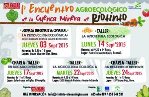 Cartel del I Encuentro Agroecológico de la Cuenca Minera.